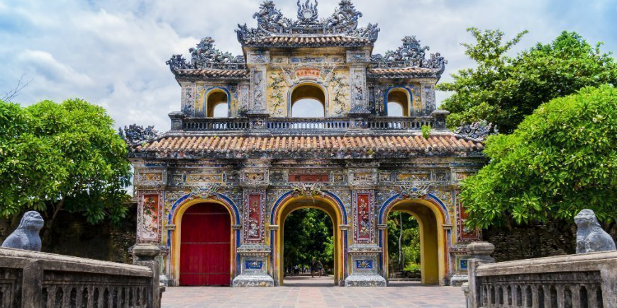 the royal citadel in Hue